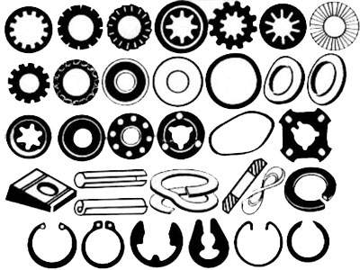Plain Punched Washers And Spring Steel Sheet Metal Components